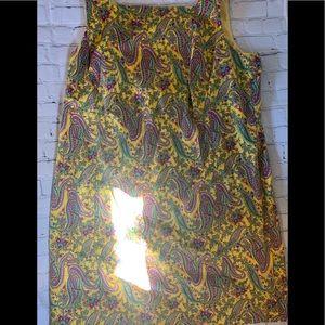 Yellow Paisley Ralph Lauren Dress